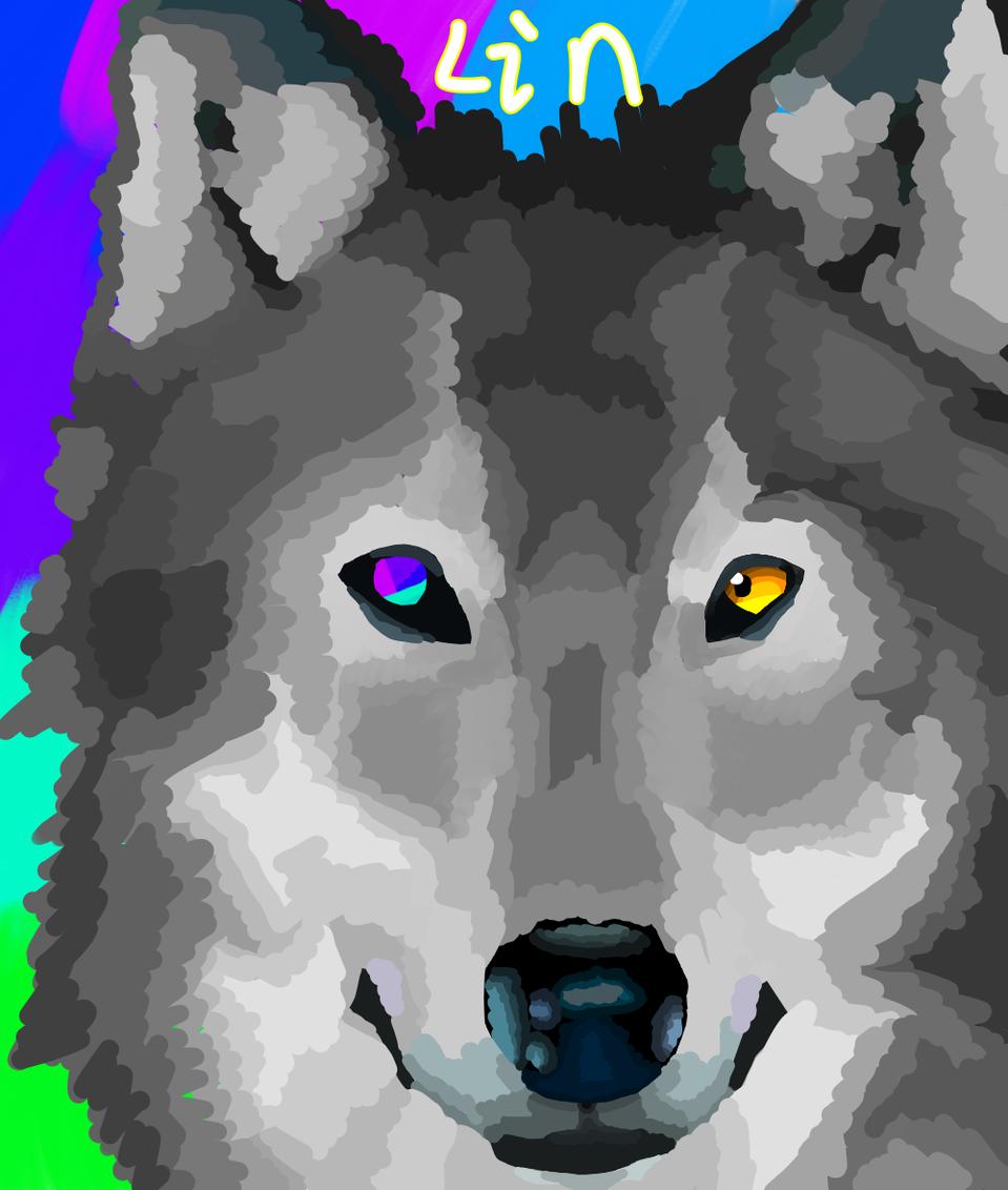 Wolf Illust of ※Lin※ medibangpaint 模写 wolf