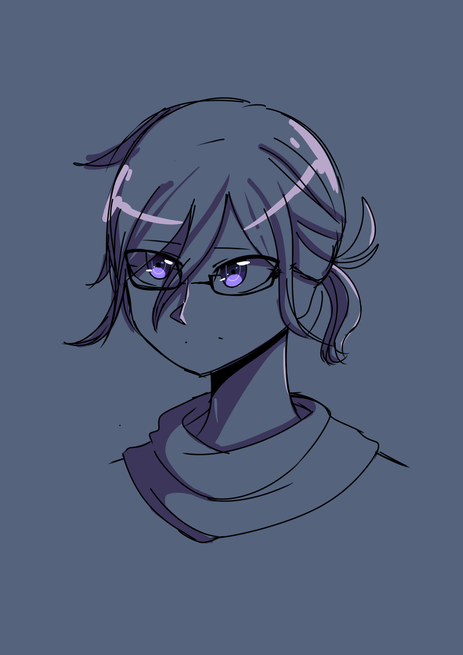 Kokichi Ouma w/glasses and a ponytail - YunieeLys