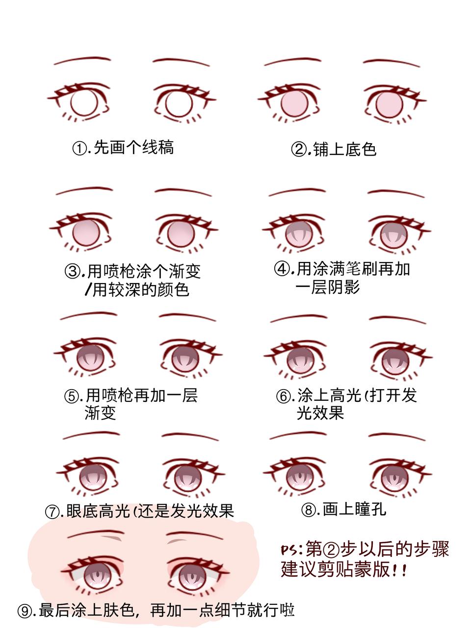 眼睛教程 Illust of 林浅 medibangpaint 教程 眼睛教程 eyes