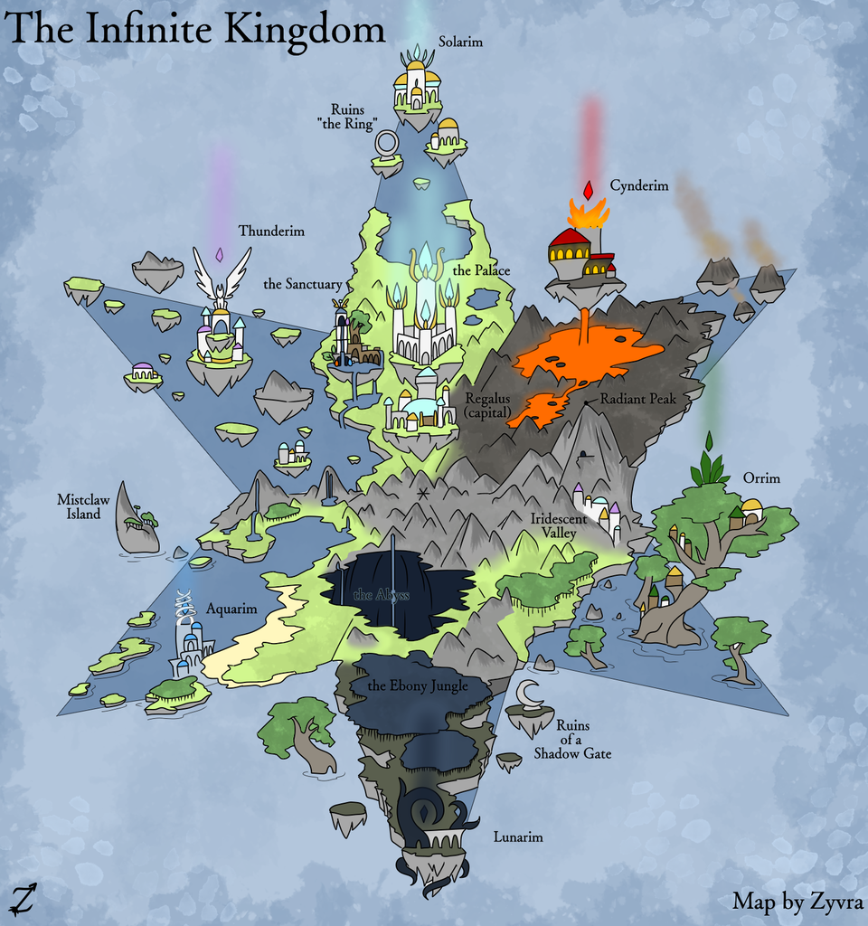 The Infinite Kingdom (color) Illust of Zyvra Dragonfyre medibangpaint oc dragon realm map furry iPad_raffle paper kingdom