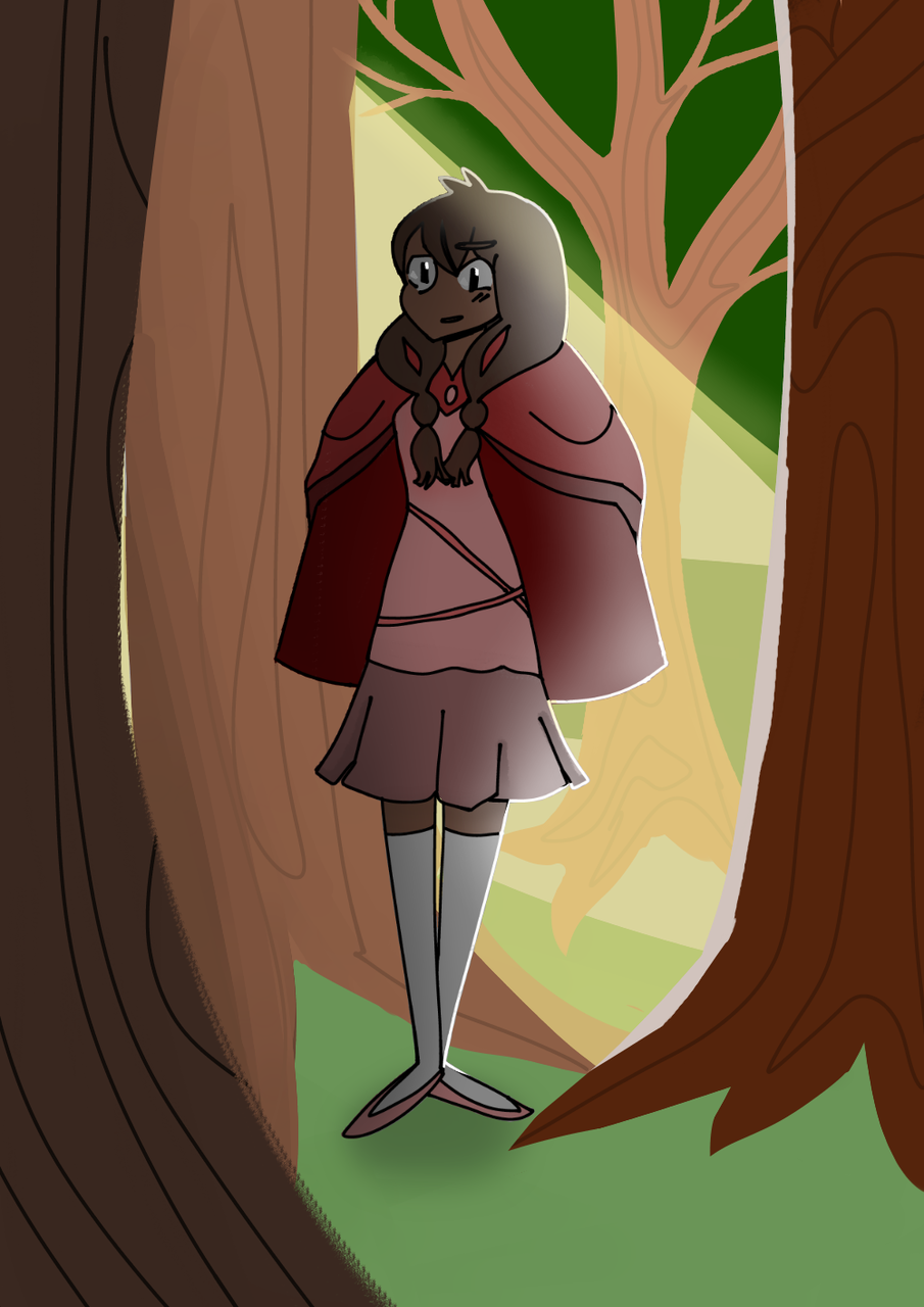 The girl in the Forest
