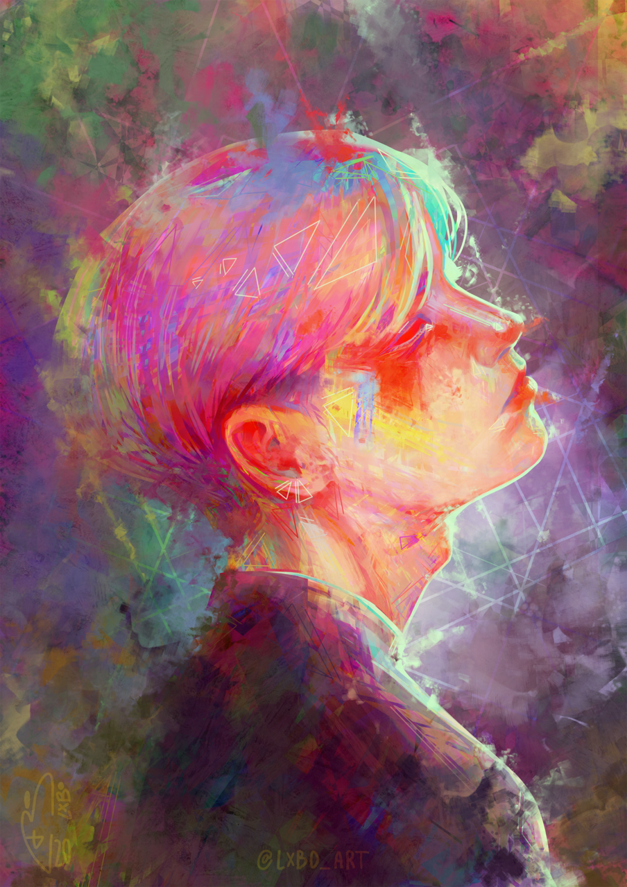 The beautiful colours of a creative mind Illust of Lxbo April.2020Contest:Color ARTstreet_Ranking portrait painting Kpop idol color Inspiration digitalpainting
