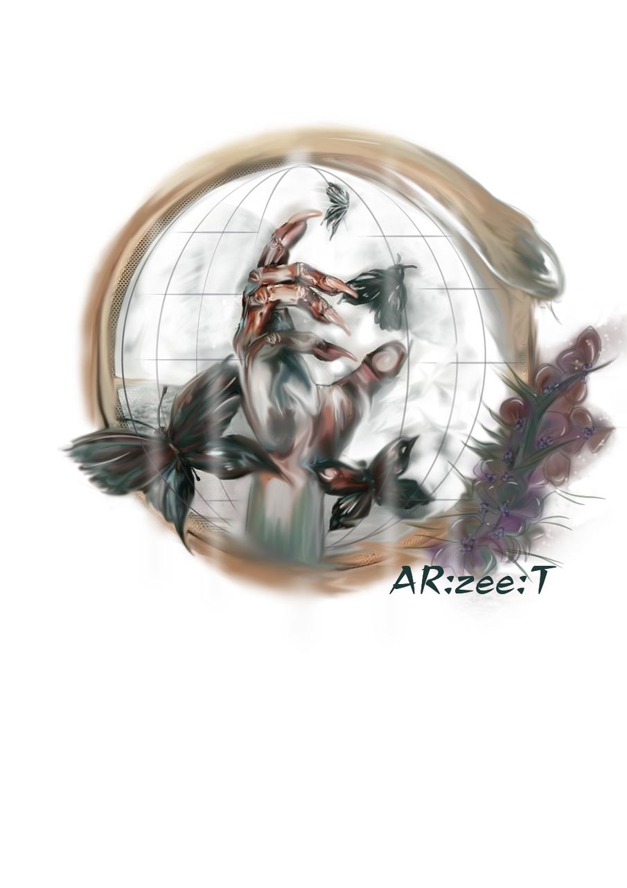 Entitled to feel safe Illust of Ar:Zee:T sci-fi medibangpaint illustration demon digital dark witch snake