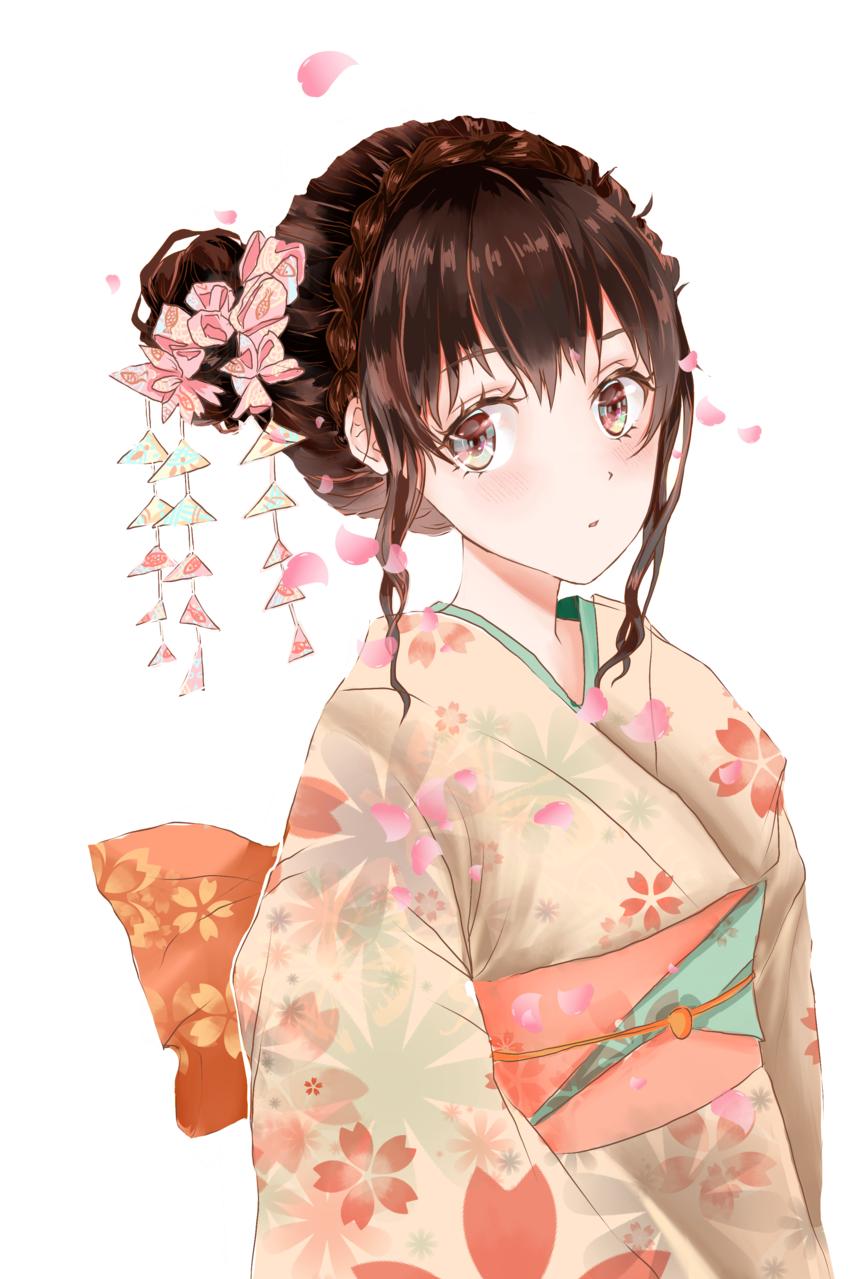 和服少女-櫻花 Illust of ドドドミノ ❥ Kyoto_Award2020_illustration kimonogirl kimono 和服少女 日本