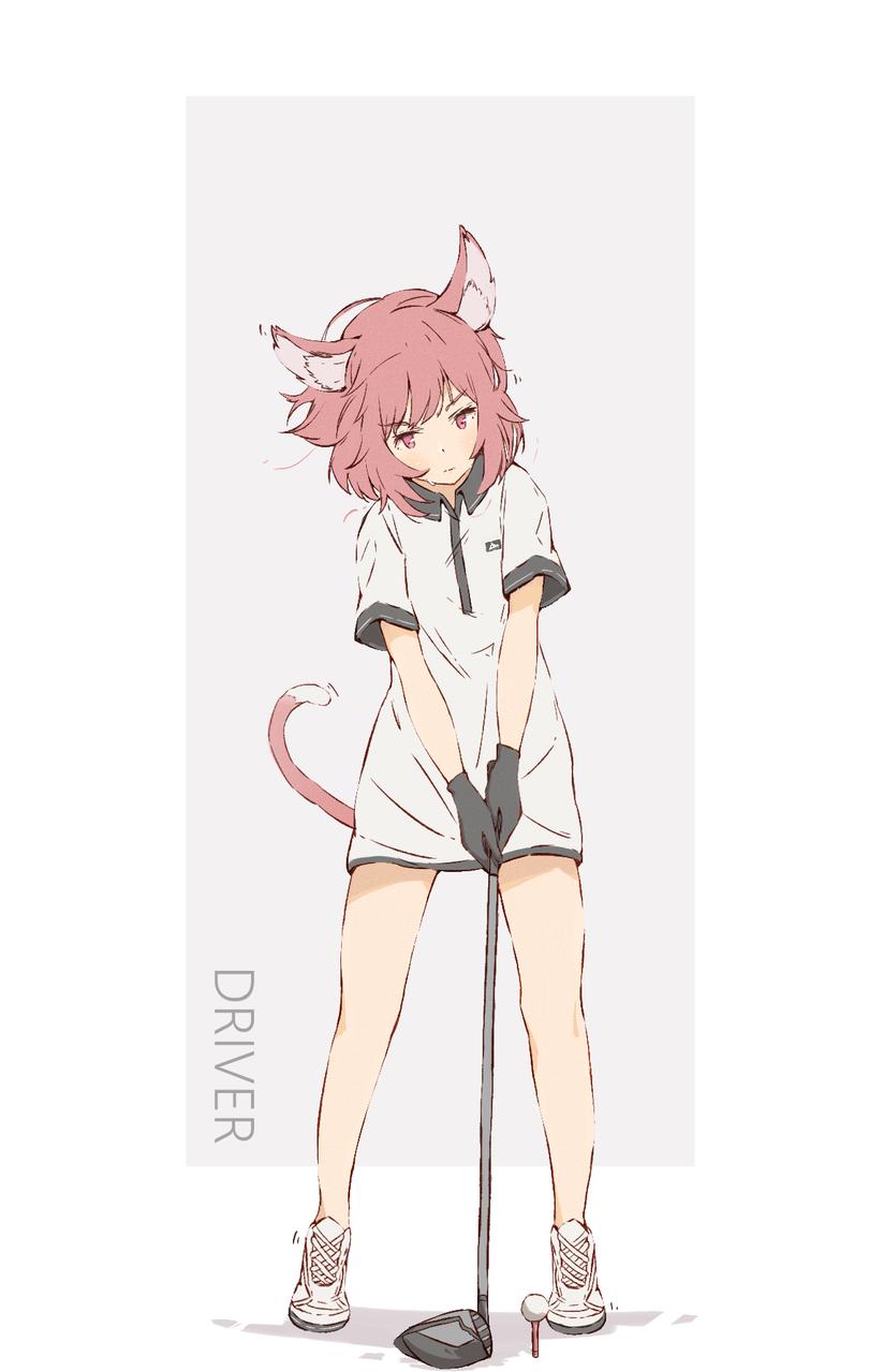 ゴルフ Illust of みずき@ミッキー sports tail girl ONEPIECE original ケモミミ ゴルフ