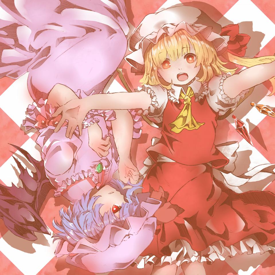 スカーレット姉妹 Illust of yokogon fanart レミフラ Touhou_Project RemiliaScarlet フランドール・スカーレット medibangpaint