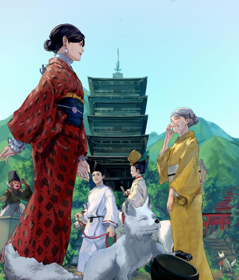 伝統と日常 Illust of はに Kyoto_Award2020_illustration kimono