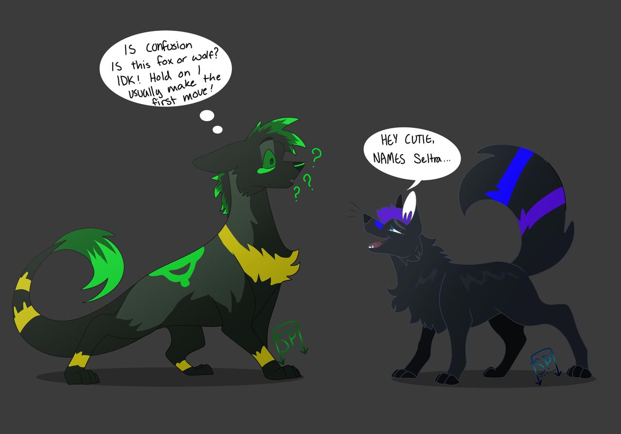 Help Him lol Illust of Squeaky Plastic medibangpaint furry fox oc jackal