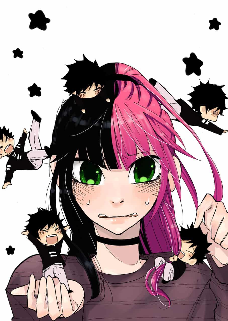 Kaylah's Happy Days Illust of Nass original girl medibangpaint chibi pink manga