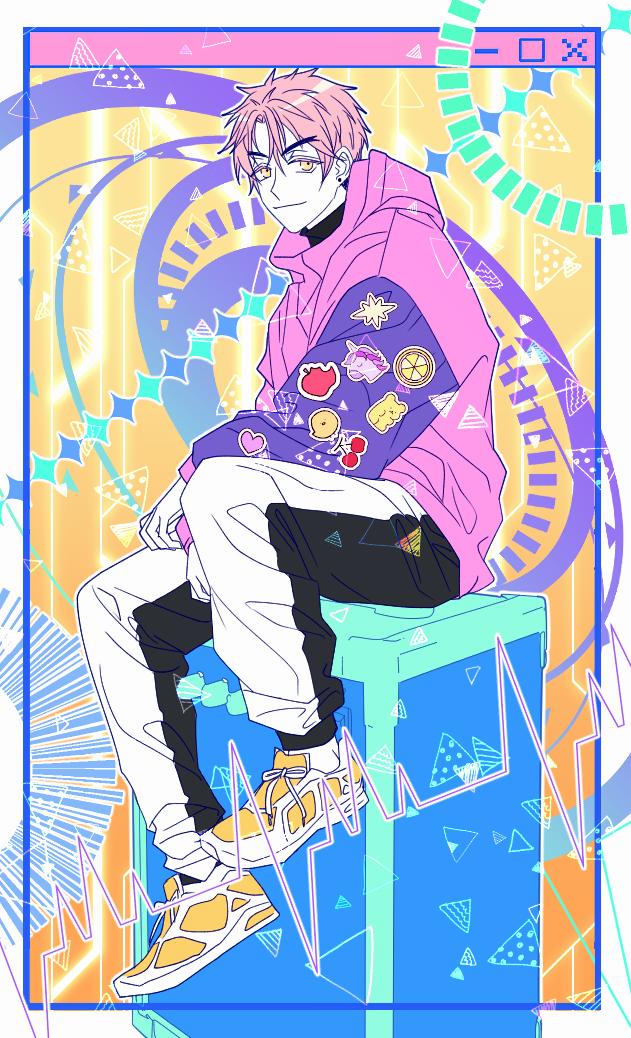 oc doodle Illust of 십삼 pinkhair boy oc