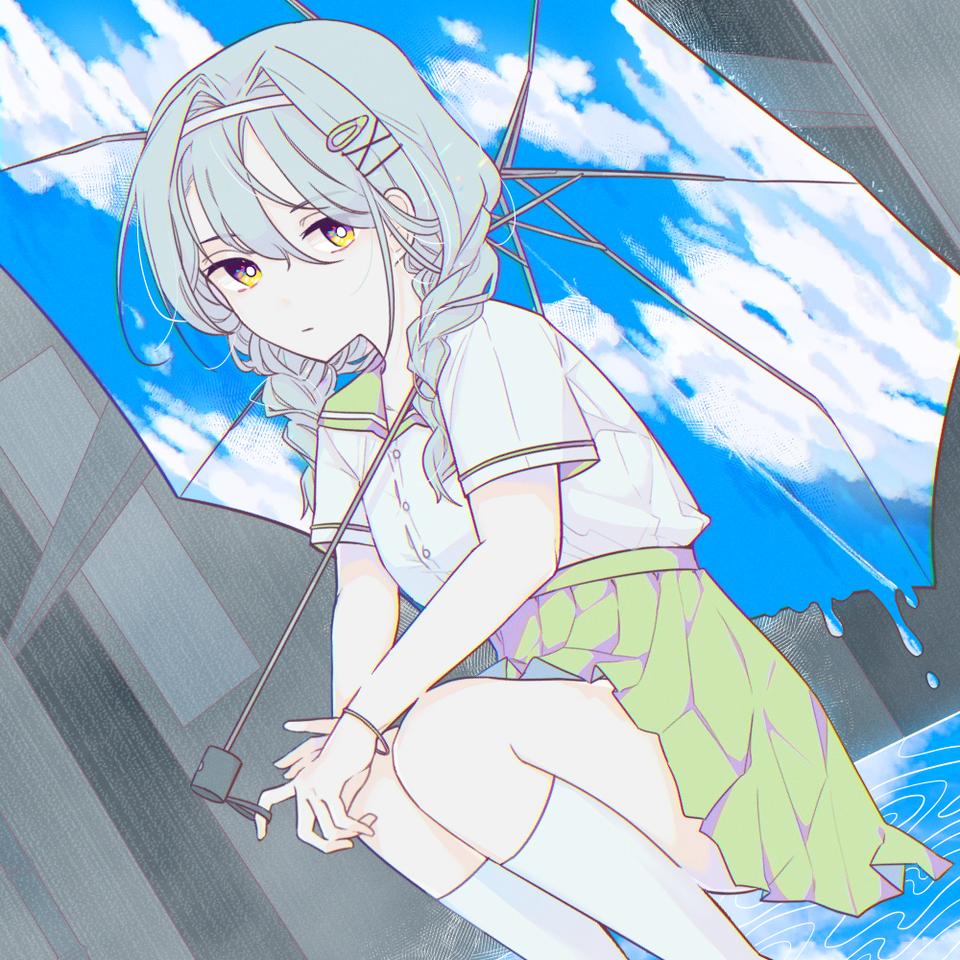summer Illust of Danmo medibangpaint summer umbrella sky
