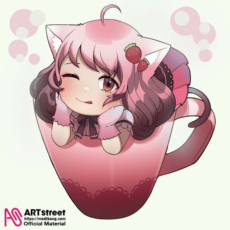 Strawberry Latte Illust of Chirin tracedrawing3rd Trace&Draw【Official】