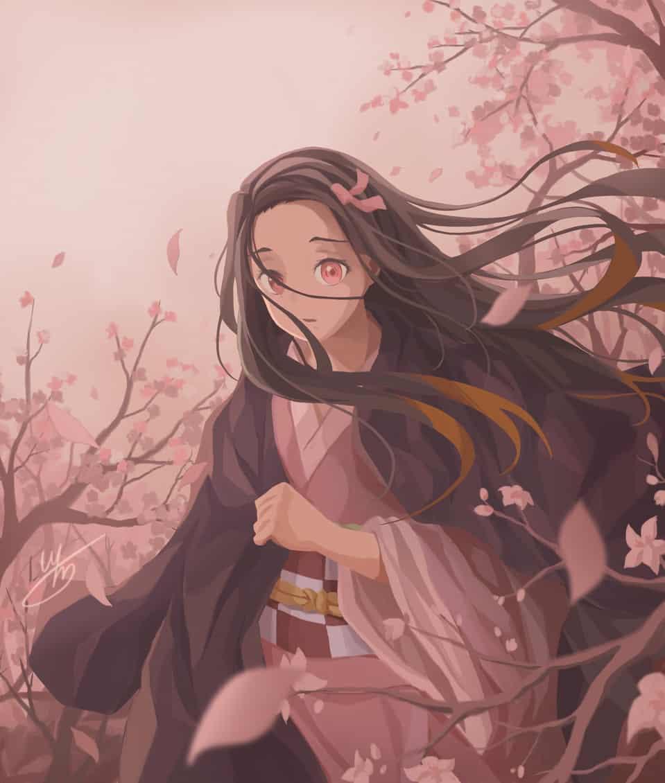 Kamado Nezuko Illust of White Mochi DemonSlayerFanartContest KimetsunoYaiba KamadoNezuko