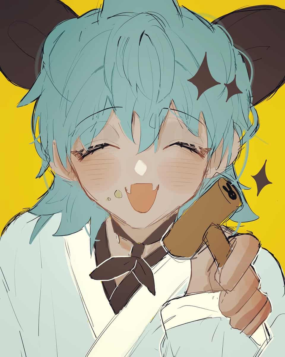 🦈🥮 Illust of 水無 cute rabbit boy doodle animal_ears