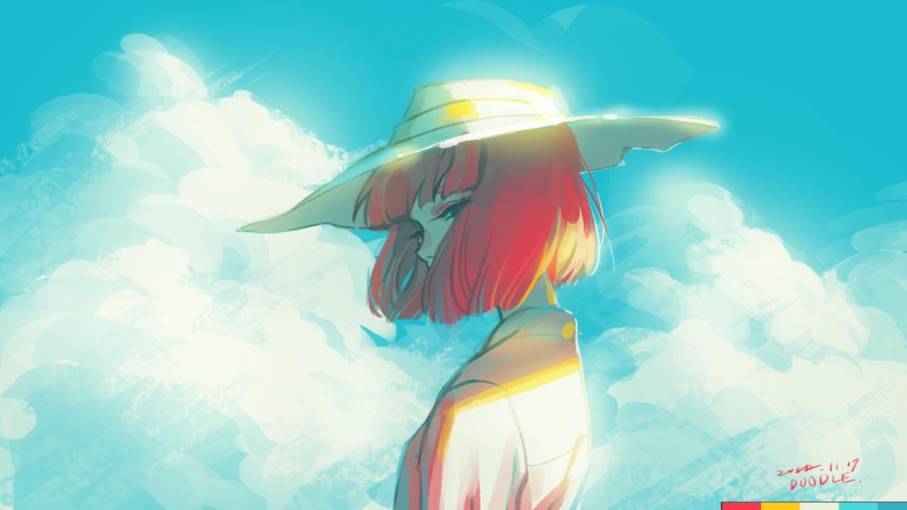 Wind Illust of ilion 色票 girl original