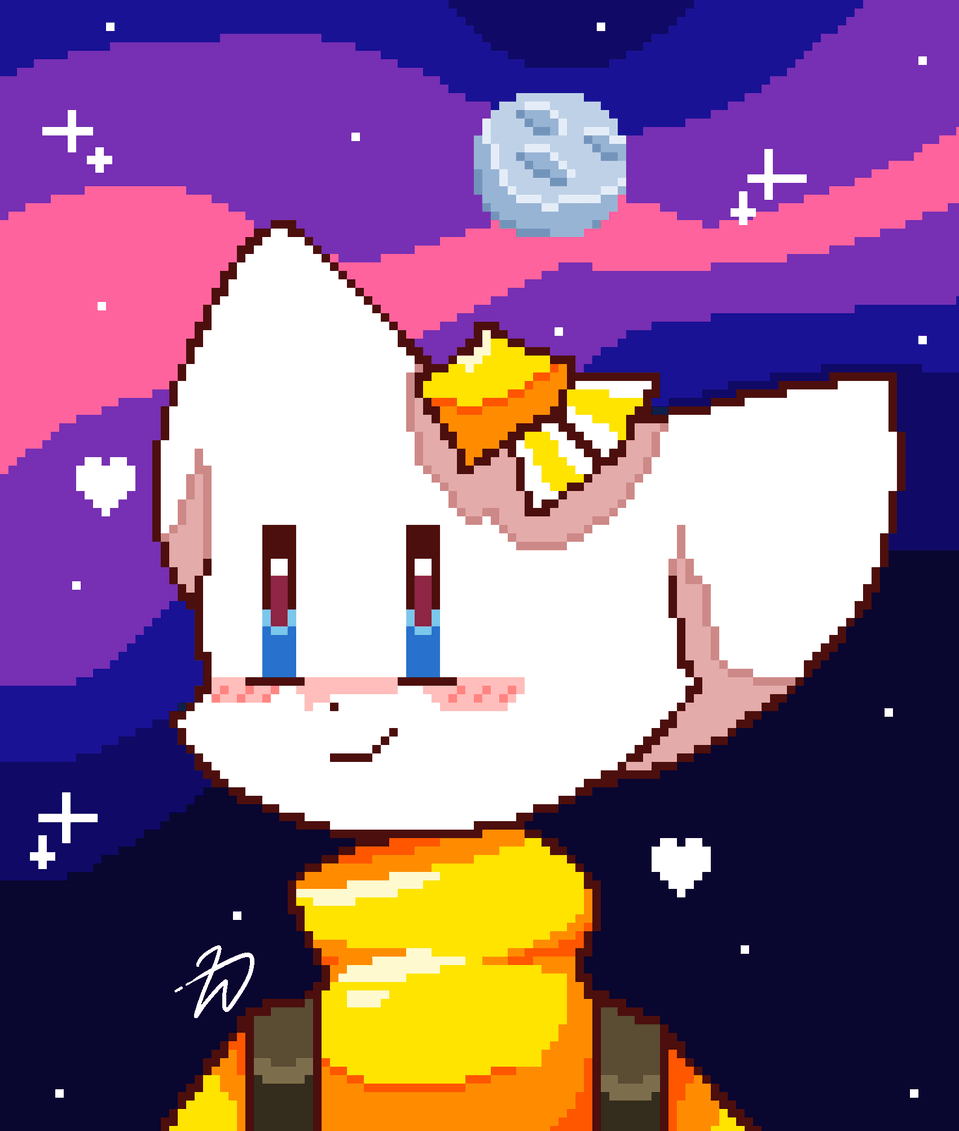 space pixel Hi Illust of Zizi moon pixelart space light