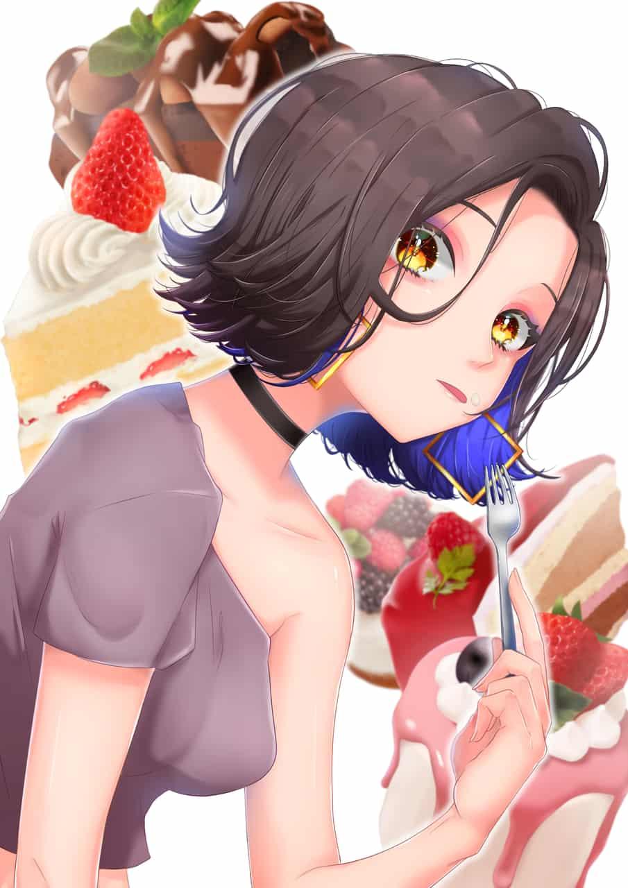 ケーキはお好き? Illust of 夜舞コメ Original_Illustration_Contest food スイーツ cake girl