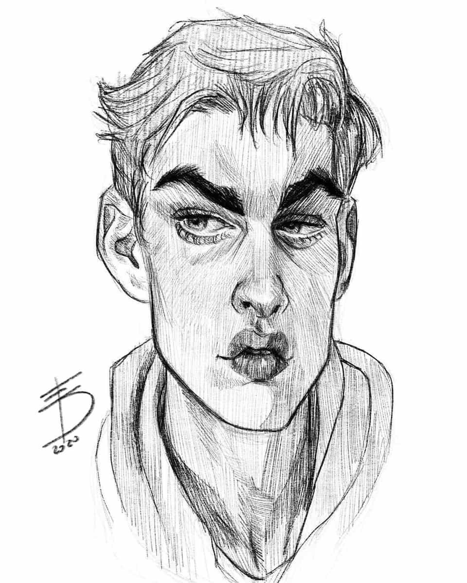 Portrait  Illust of Derwelt character Artwork drawing artist medibang manga art Medibang portrait medibangpaint