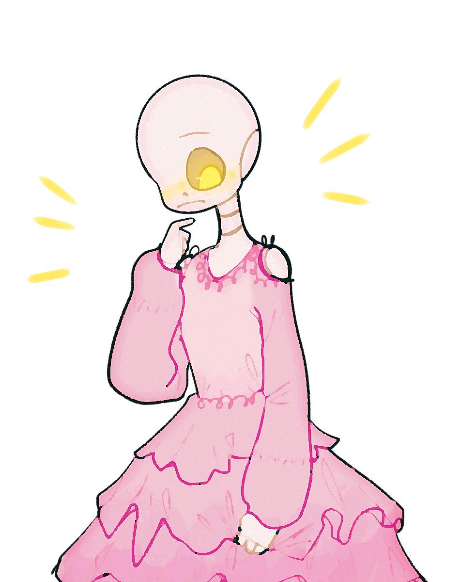 volt but in a dress Illust of ✧・゚:* Fresh *:・゚✧