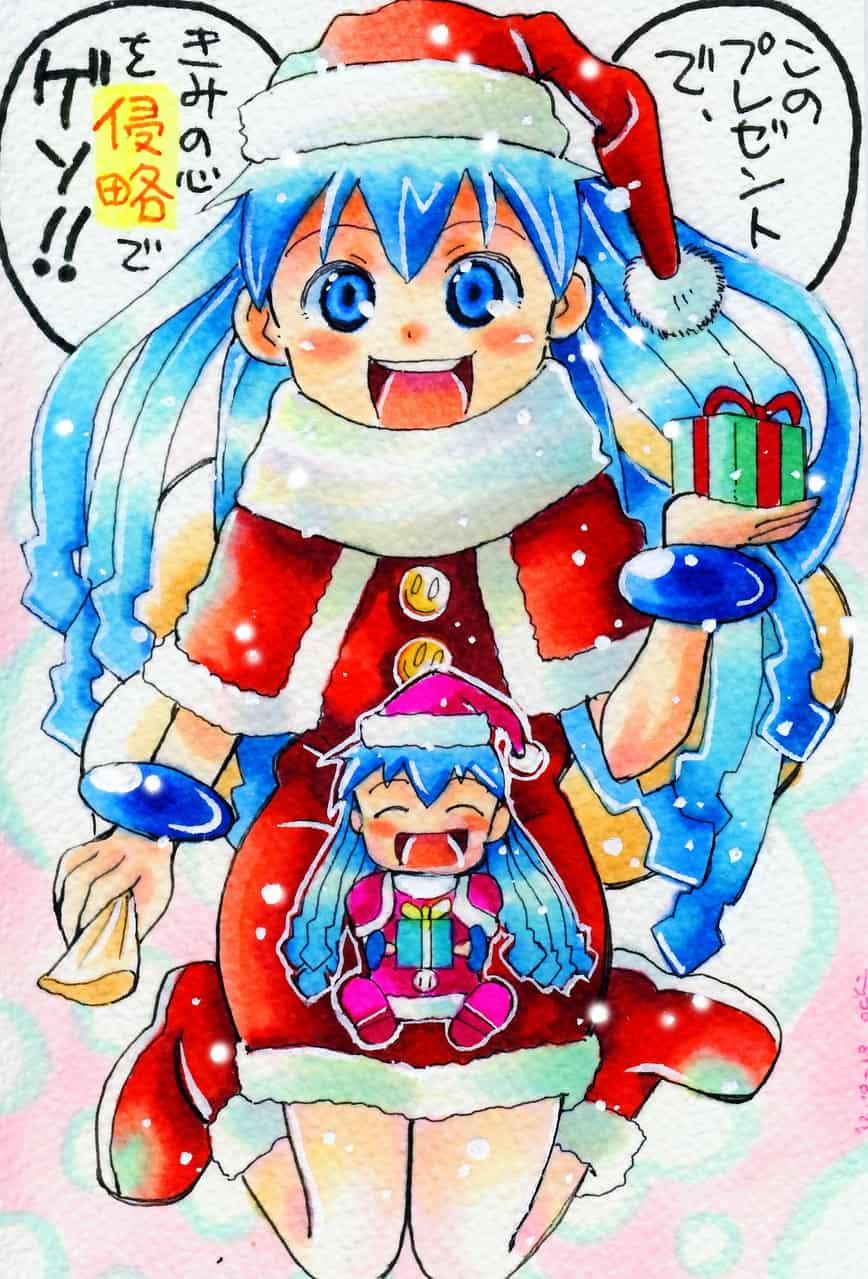 サンタ「イカ娘♥」とミニ「イカ娘♥」!!
