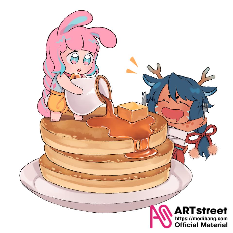 Pancake Feast! Illust of ruukkai tracedrawing3rd Trace&Draw【Official】 Pancake illustration oc