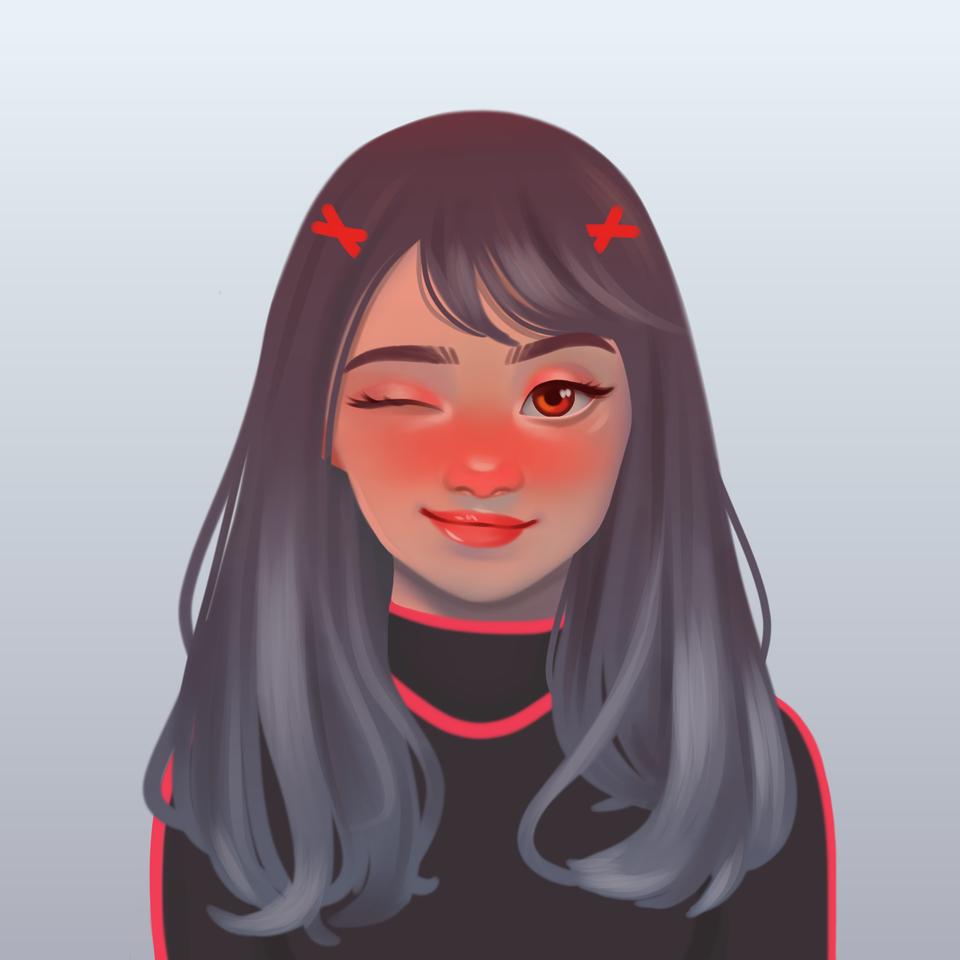 Free Profile Pic Contest Illust of Katty cute girl hair eyes oc original characterdesign profile contest