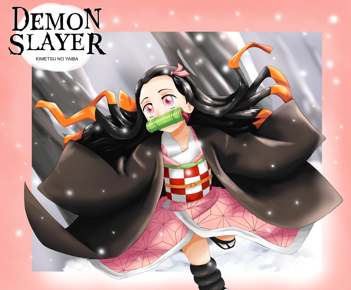 Nezuko 😘😘😘 Illust of Wyvernnova DemonSlayerFanartContest anime fanart KimetsunoYaiba cute illustration KamadoNezuko medibangpaint