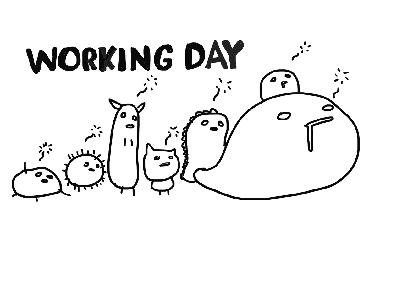 WORKING DAY Illust of hungyauhei March2021_Creature illustrations illustration monster
