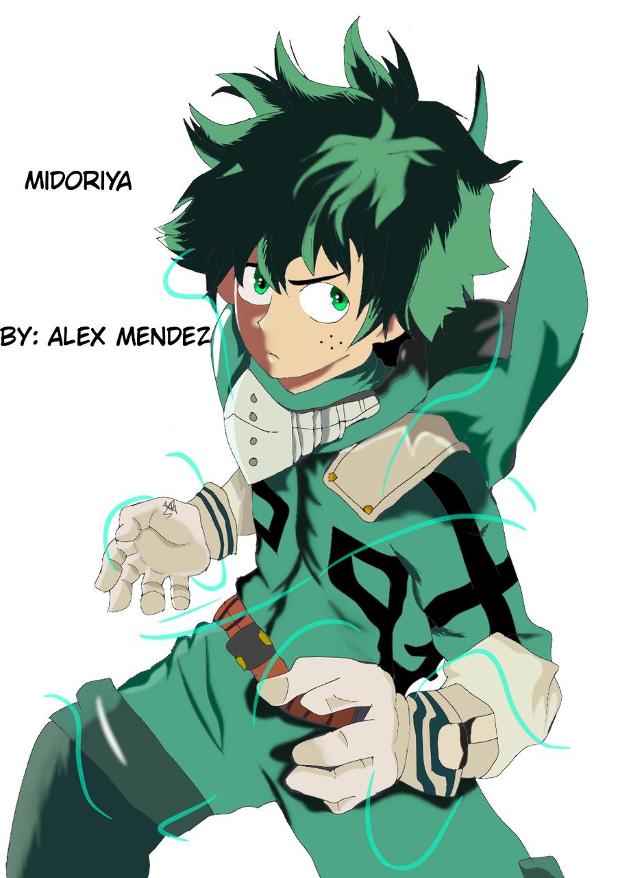 Boku no hero academia: midoriya Illust of alex jose medibangpaint MyHeroAcademia anime Izuku_Midoriya