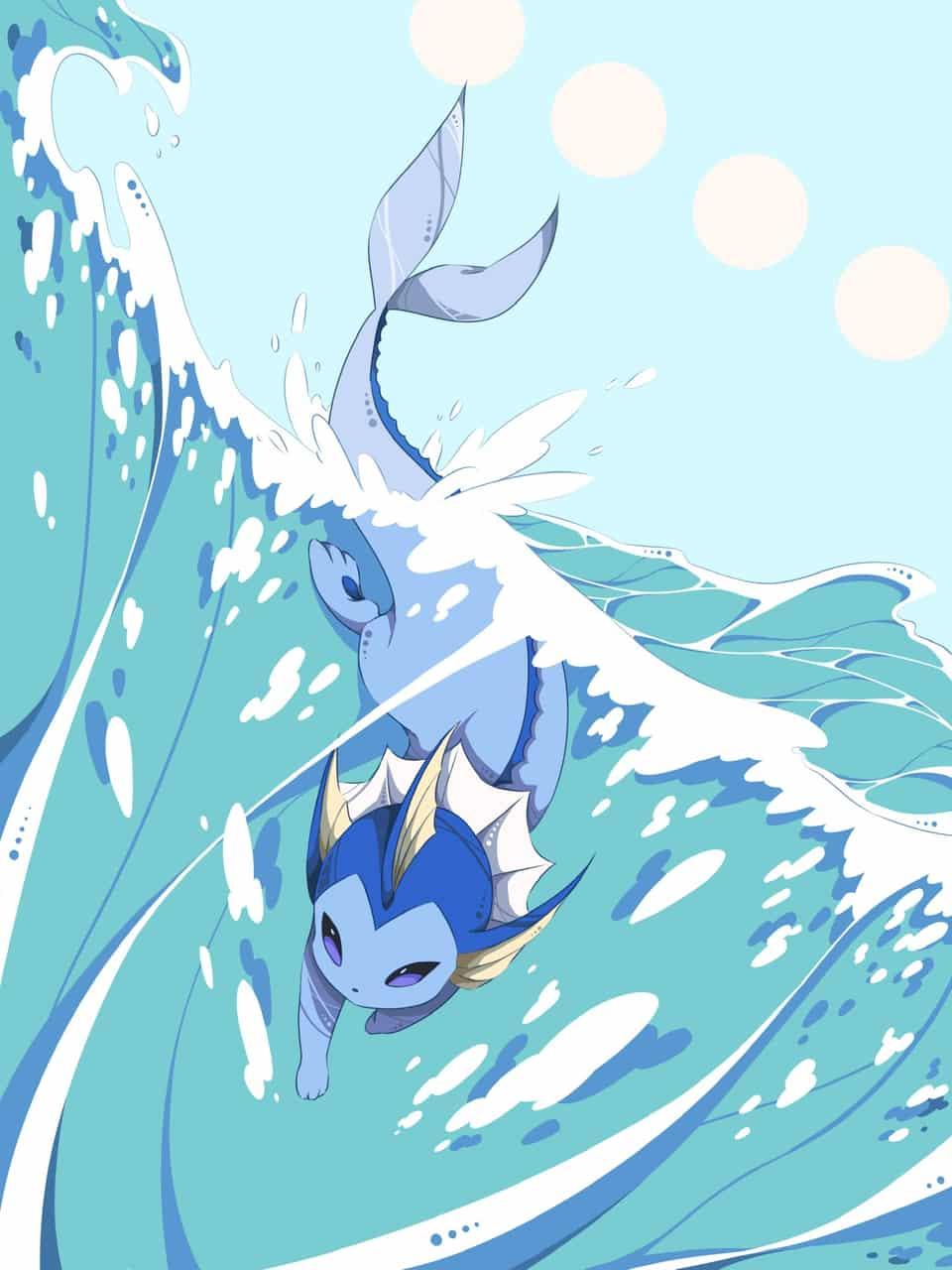 シャワーズ Illust of 彩平 pokemon Vaporeon