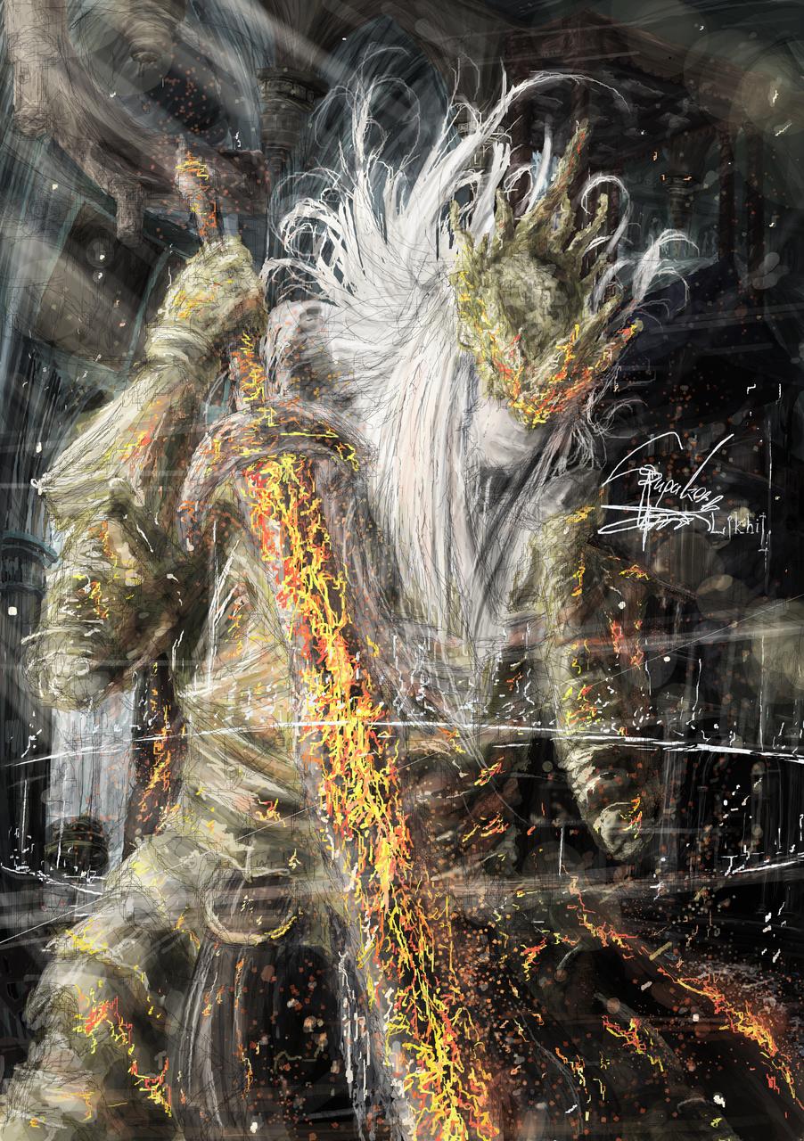 The Twinprince Illust of Supakorn_Likhitsomboon(AsrielTT) fantasy DARKSOULS painting digitalillustration digitalpainting dark fanart DarkFantasy paint digital