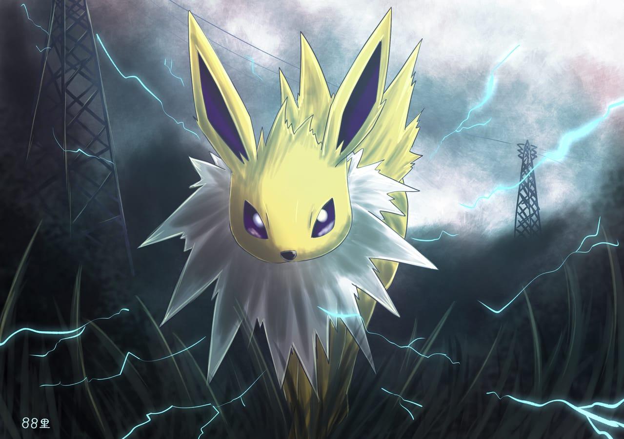 サンダースの日 Illust of 88里 Jolteon medibangpaint サンダースの日 pokemon