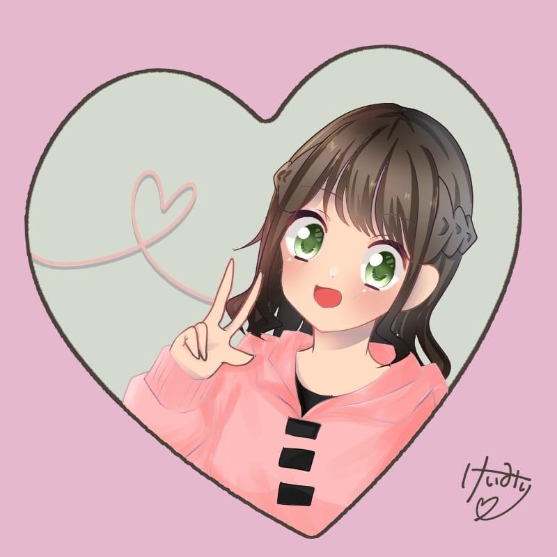 けいみりちゃん Illust of けいみり hoodie girl けいみり medibangpaint pink けいみり美術館 kawaii