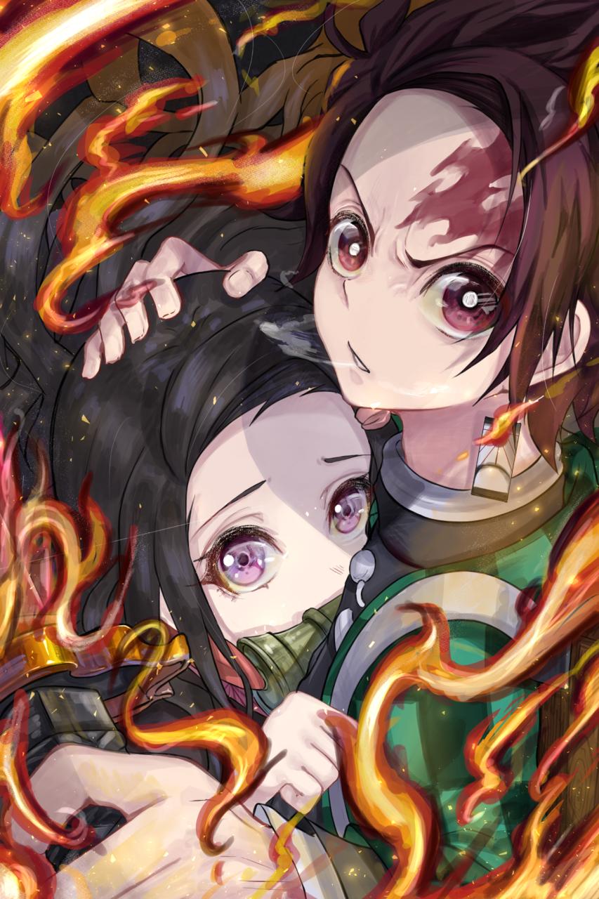 兄妹の絆 Illust of ryo DemonSlayerFanartContest KamadoTanjirou KimetsunoYaiba KamadoNezuko