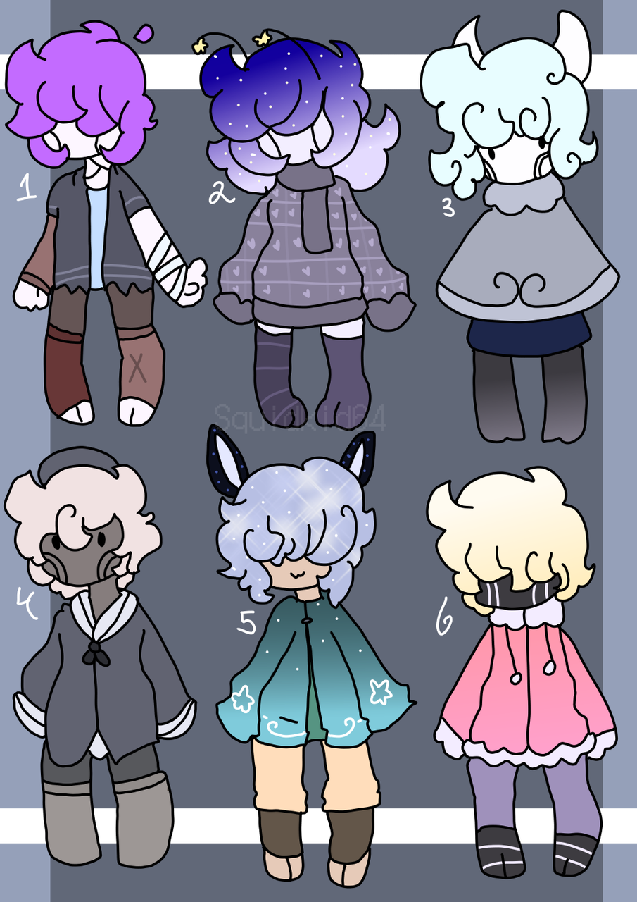 Skeleton and sea bunny adoptables Illust of Squidkid64 medibangpaint oc cute adopt