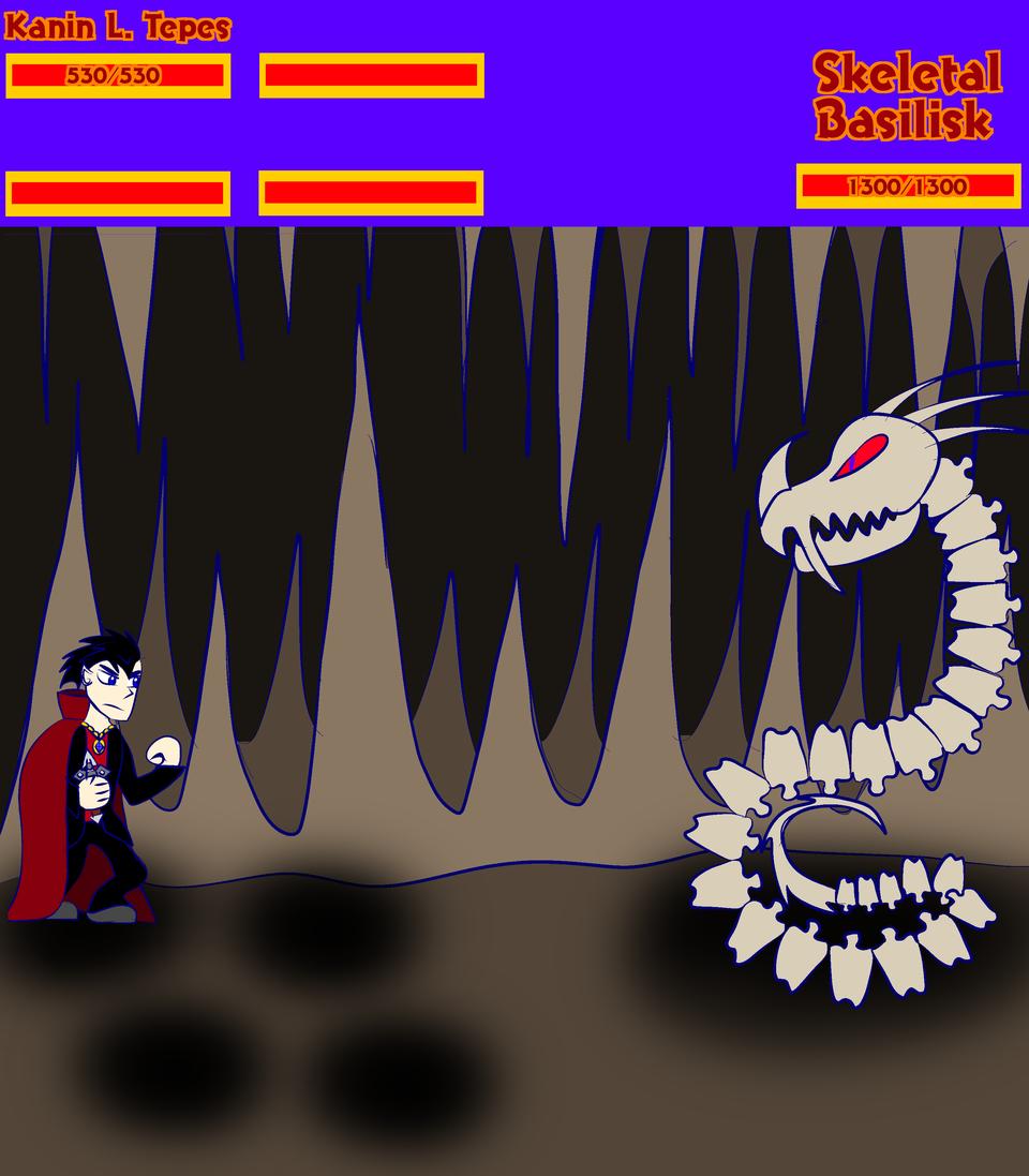 Collab anyone? Illust of /-/-ShO0K m0d3-\-\  DordusRising medibangpaint oc Boss_battle RPG Basilisk Creatures videogame Konami Castlevania collab