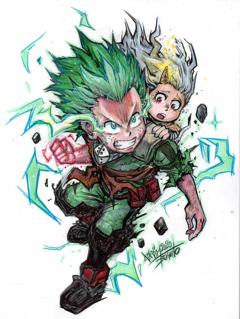 Illust of Djiguito KimetsunoYaiba MyHeroAcademia ARMS DragonQuest ミュータントタートルズ