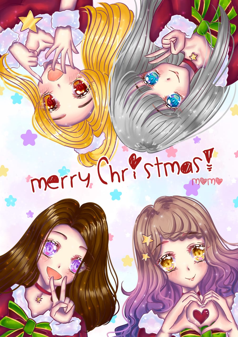 December theme contest Santa Illust of Sumomo December2020_Contest:Santa cute illustration cutegirl animegirl digital art originalart oc