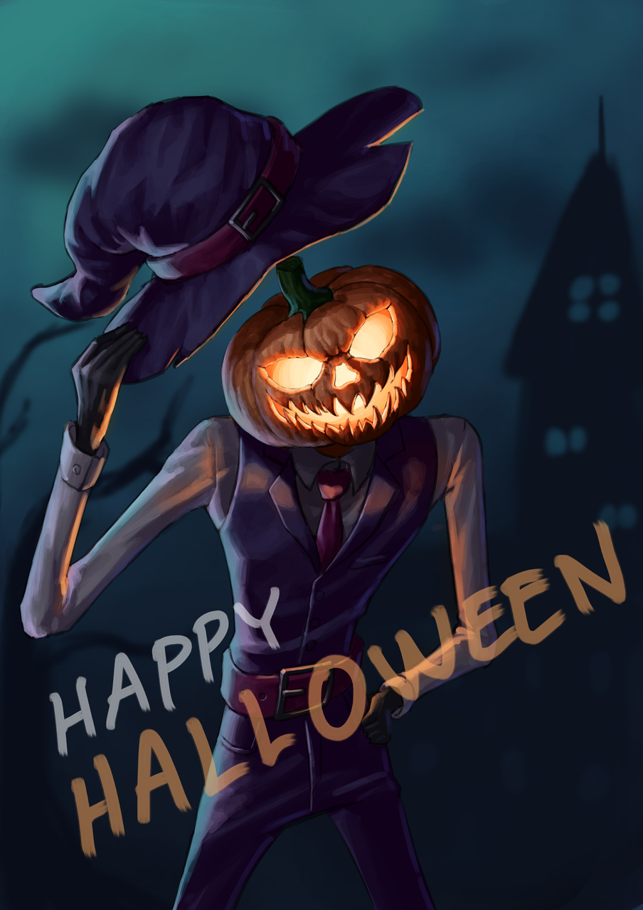 Witch Hat Jack-O-Lantern Illust of 붸헿 Oct.2019Contest medibangpaint witch Halloween illustration jack-o-lantern hat