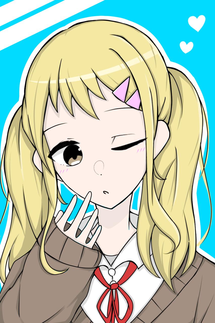 すのんさんのオリキャラ!✨[リクエスト] Illust of ななつ medibangpaint girl 2つ結び blonde すのん