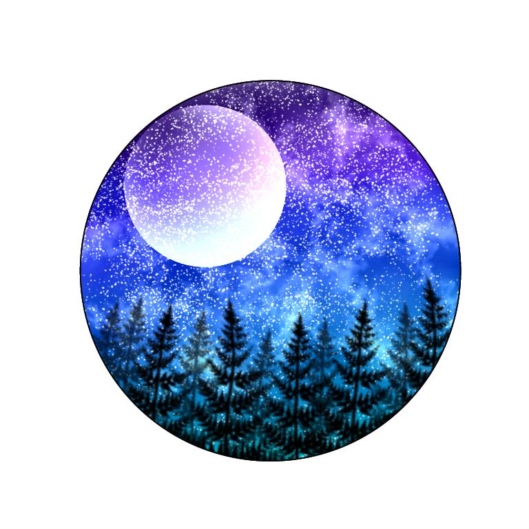 なぜか急に描きたくなった Illust of ろろん medibangpaint moon 夜空