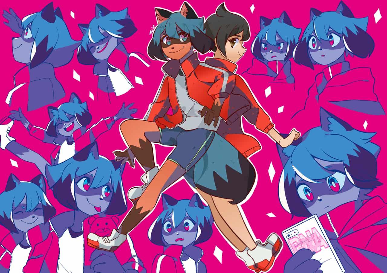Michiru Kagemori  Illust of Tochi doodle BNAビー・エヌ・エー animal tanuki anime sketch drawing BNA:BrandNewAnimal dessin art