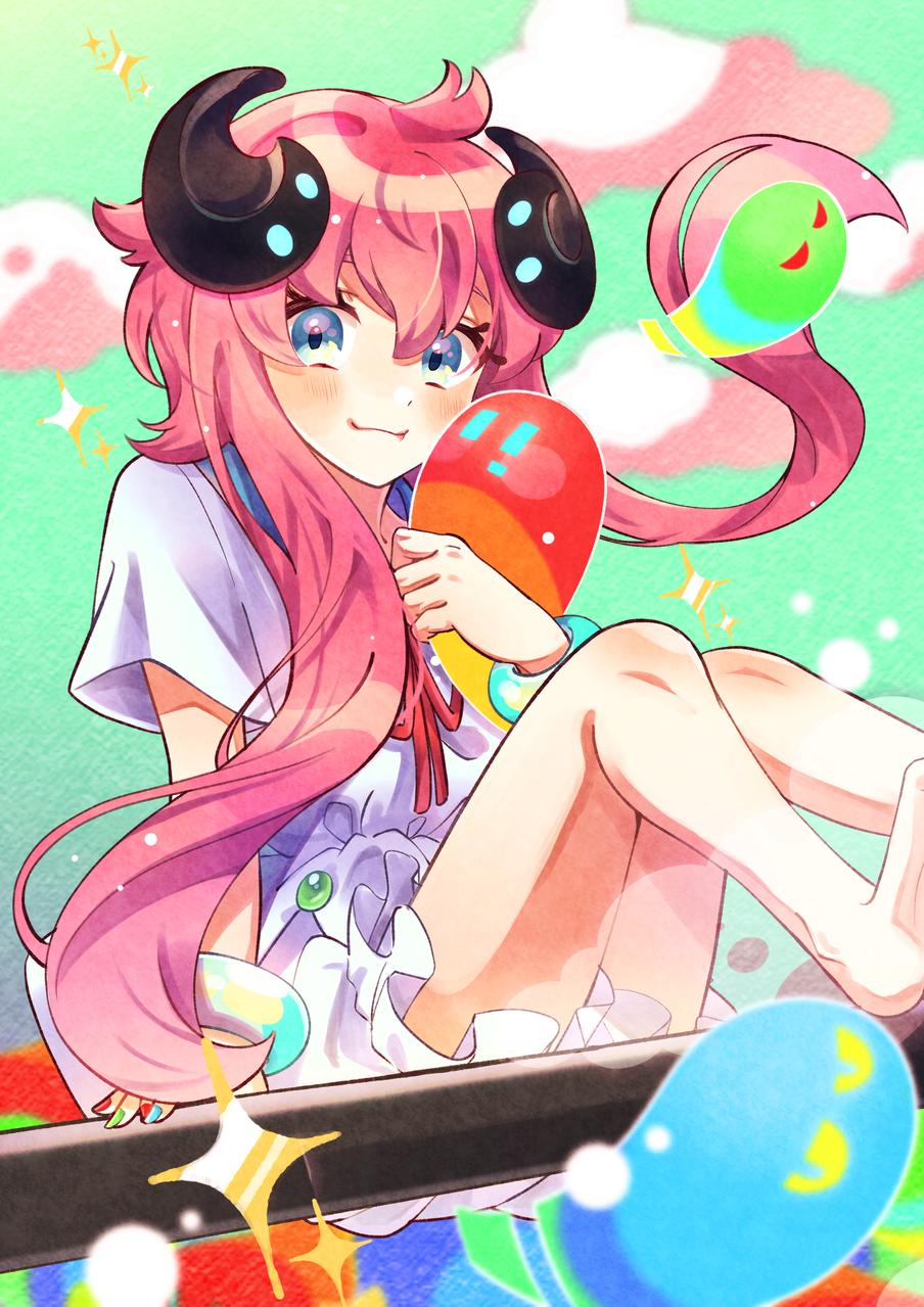 みんなで空中散歩♪ Illust of magu. MediBang_General_Election General_Election_Medi-chan girl illustration