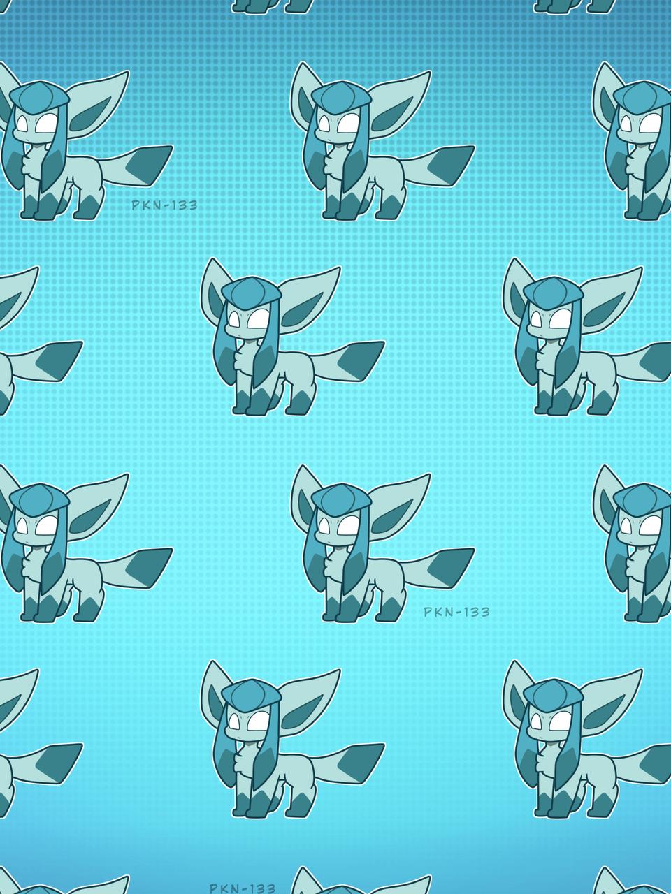 Some More Pokémon Patterns.  Illust of ✨ PKN-133 ✨ pokemon PKN-133 Sylveon glaceon Umbreon wallpaper chibi Espeon eeveelution Jolteon