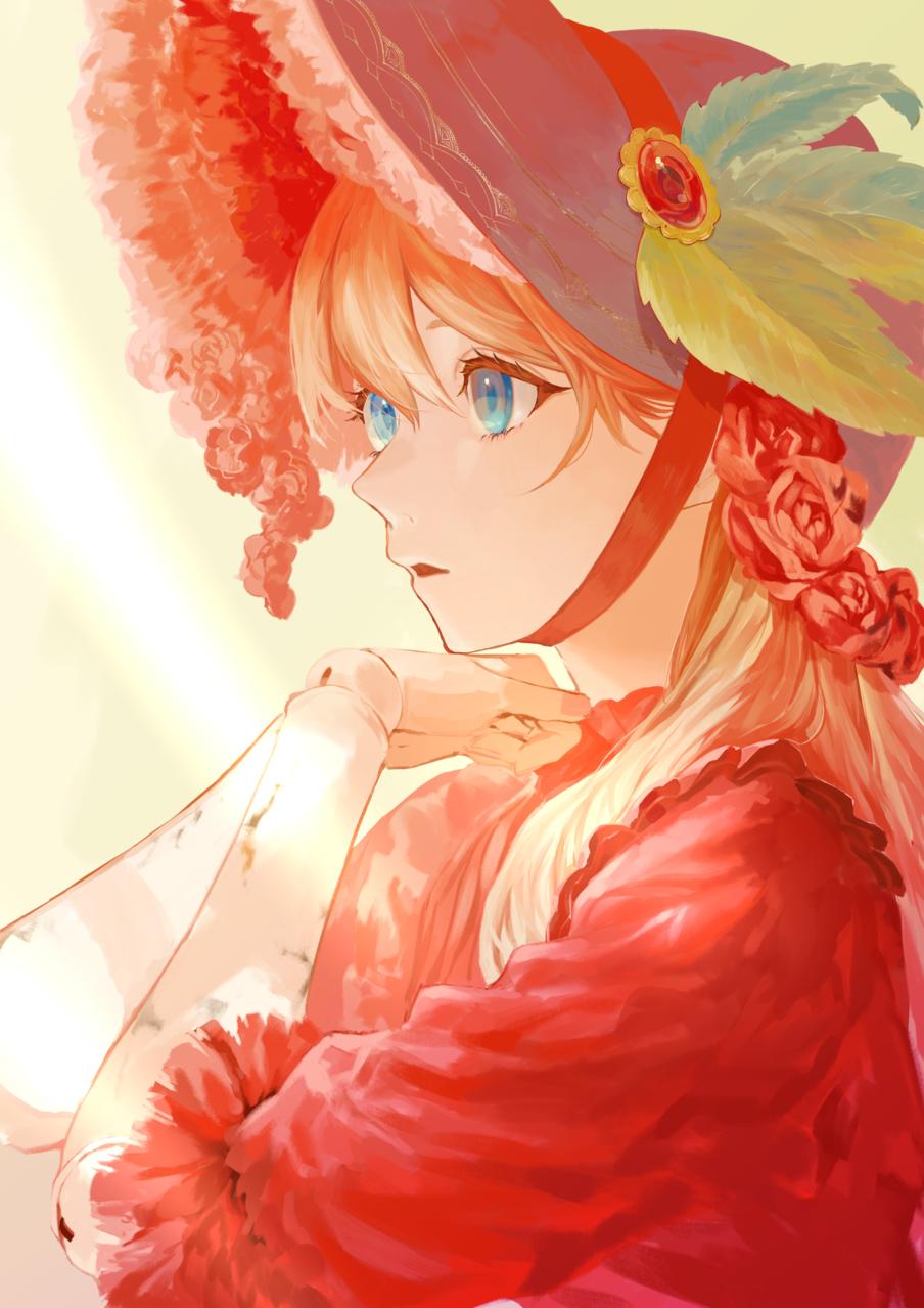 羨望 Illust of 昆布 April2021_Flower sideface