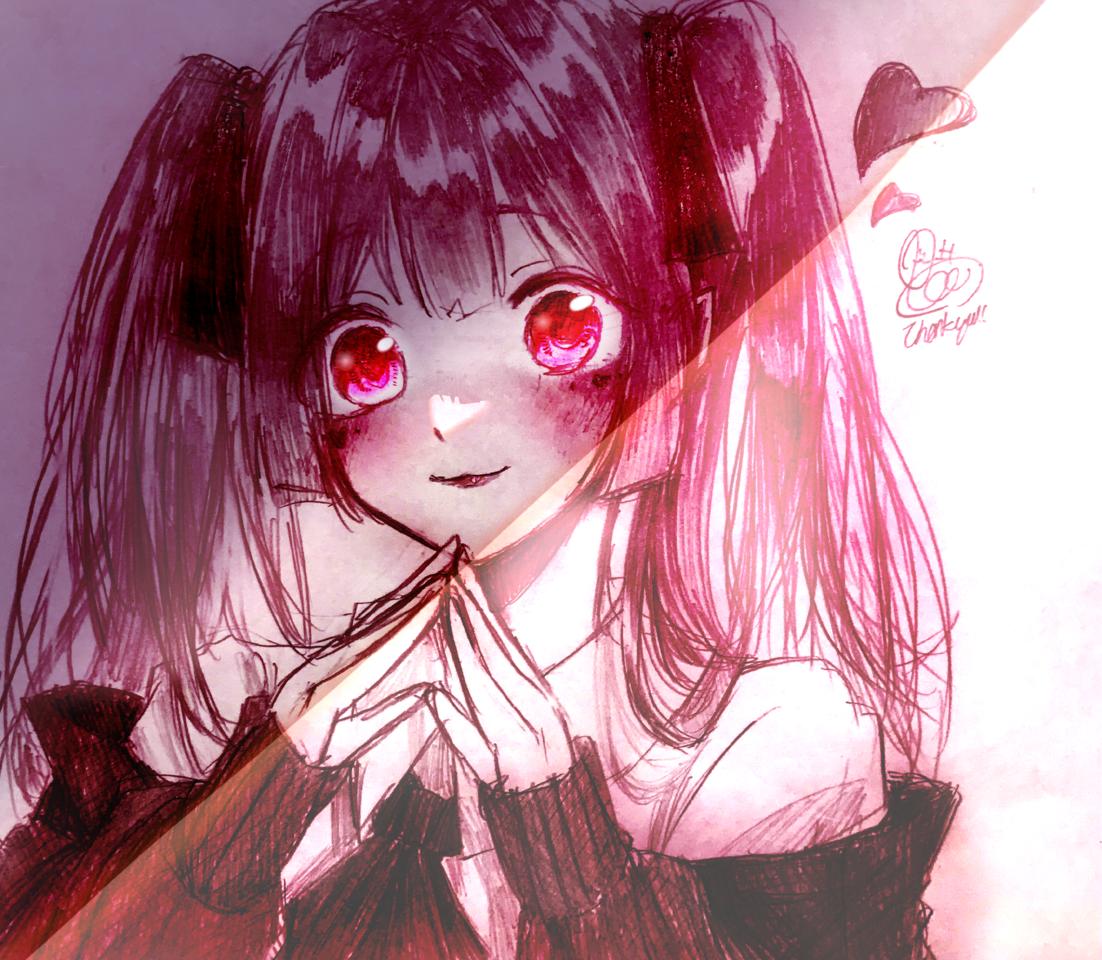 ウフフ♥ Illust of 🌸ポェもち@低浮上 ARTstreet_Ranking_Contest September2021_Girl kawaii girl オタク 🌸ポェもち* 量産型 神絵師 やみかわいい みんなの大好物 プリン食いたい デジタル(みたい)