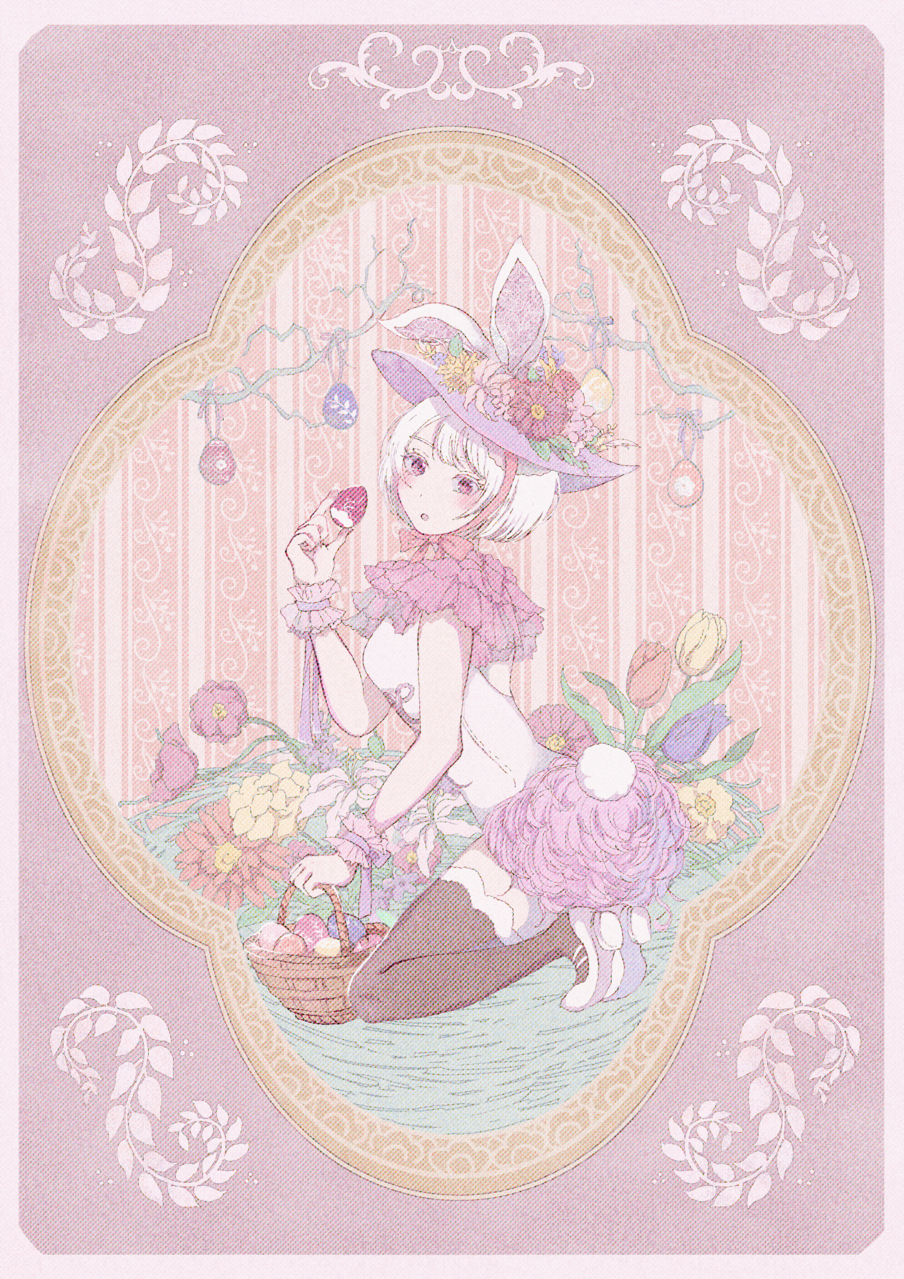To carry happiness Illust of umepi March.2020Contest:Easter easter girl rabbit