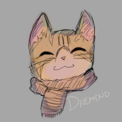 Hide uvu Illust of DremEND (Dragon mode) cat