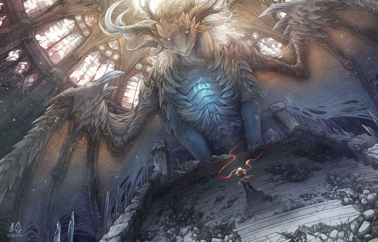 古老之心 Illust of 佳怡 CPoring fantasy dragon 龍 ancient