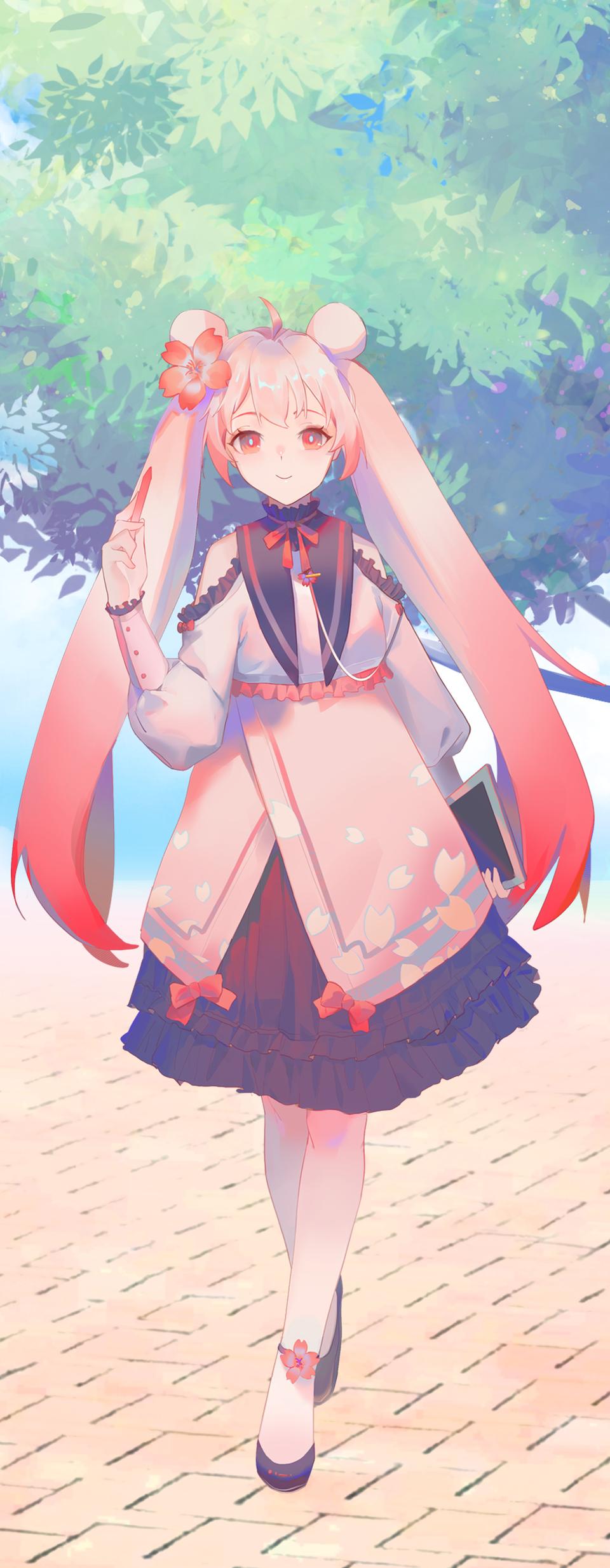 桜 Illust of Tsuioku PASTEL_SKETCH2020 pink painting oc girl